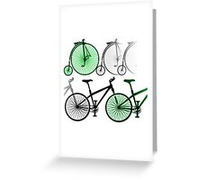 Cycles old and new Greeting Card
