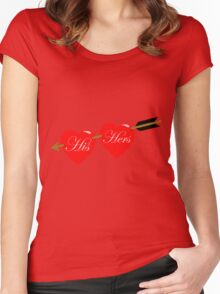 his and her hearts Women's Fitted Scoop T-Shirt