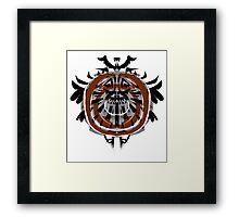 Bullseye Tribal Framed Print