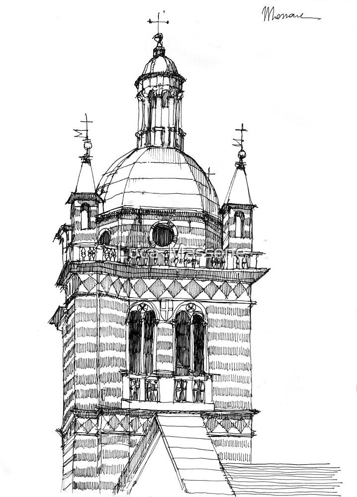 Campanile della cattedrale di Genova by Luca Massone  disegni