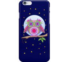 Full Moon Flower power Owl case iPhone Case/Skin