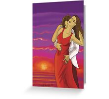 Sunset Lovers Greeting Card