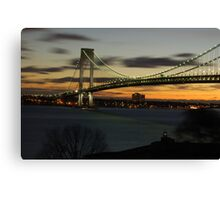 Verrazano Bridge at Dawn Canvas Print