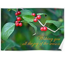 Berries--Holiday Card Poster