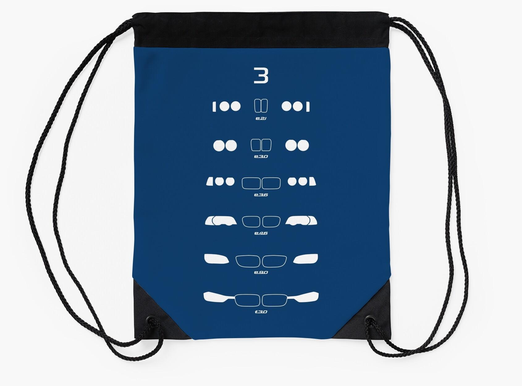 E21 Vs E30 Handling Flat Drawstring Bag X Bg Fff U