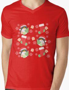 Penguin and Christmas Stockings #1 Mens V-Neck T-Shirt