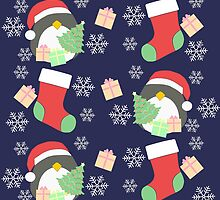 Penguin and Christmas Stockings #2 by simplepaperplan