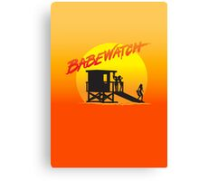 Babewatch (Baywatch) Canvas Print