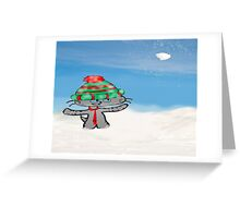 Cats Have A Snowball Fight Greeting Card