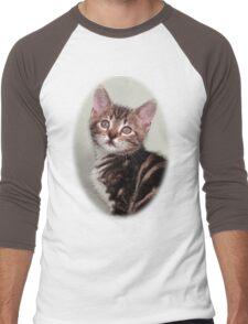 Cute kitten design Men's Baseball ¾ T-Shirt