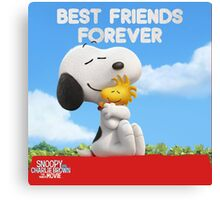 snoopy best friend forever the peanuts movie Canvas Print