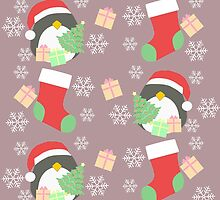 Penguin and Christmas Stockings #3 by simplepaperplan