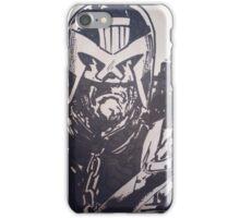 Judge Dredd pen drawing  iPhone Case/Skin