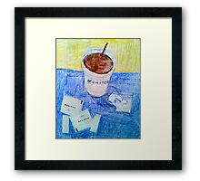 Airplane coffee Framed Print
