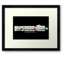 8 Bit Pixel Spaceship Enforcer Class Battle Cruiser - The Thor Framed Print