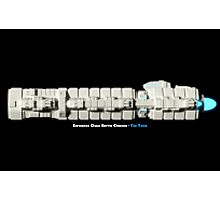 8 Bit Pixel Spaceship Enforcer Class Battle Cruiser - The Thor Photographic Print