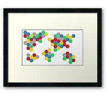 Settlers of Catan Inspired - World Map Digital Art Print Wall Decoration Framed Print