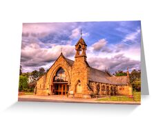 All Saints Anglican Church Canberra WAS railway Station Greeting Card