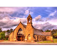 All Saints Anglican Church Canberra WAS railway Station Photographic Print