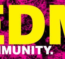 EDM (Electronic Dance Music) Community Sticker
