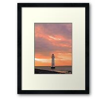 Red Sky at Perch Rock Framed Print
