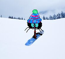 Snowboarding Cat by JohnsCatzz