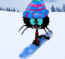 Snowboarding Cat Sticker