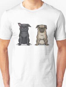MEAN MUG PUGS - Ozzy & Kubrick Unisex T-Shirt