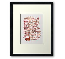 About Paths... Framed Print