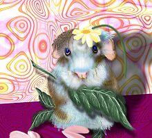 Herbie Hamster, animal whimsy by Alma Lee