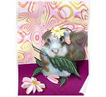 Herbie Hamster, animal whimsy Poster