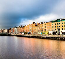 Ormond Quay - Dublin Ireland by Mark Tisdale