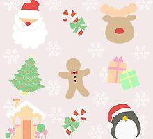 Santa & His Helpers #1 by simplepaperplan