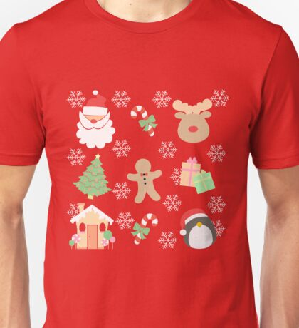 Santa & His Helpers #1 Unisex T-Shirt