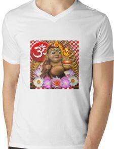 Big Buddha Bob Mens V-Neck T-Shirt