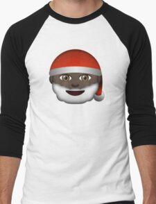 Emoji Santa Black Men's Baseball ¾ T-Shirt
