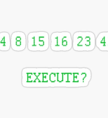 LOST: The Numbers - Execute Sticker