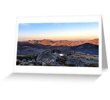 Towards Mt Feathertop Greeting Card