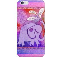Hello Elephant iPhone Case/Skin