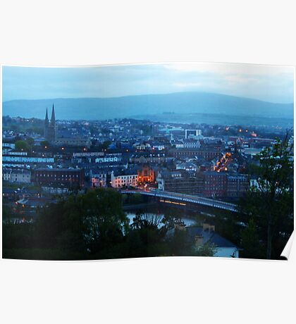 Derry at dusk Poster