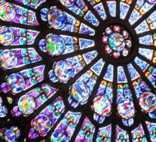 Notre Dame Stain Glass Window Sticker