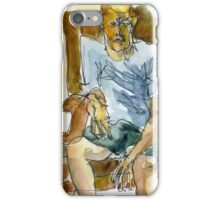 man in a leather chair iPhone Case/Skin