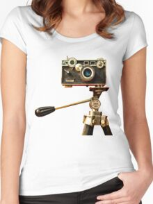 Vintage Argus Camera & Tripod Women's Fitted Scoop T-Shirt