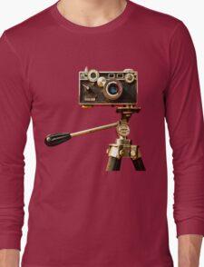 Vintage Argus Camera & Tripod Long Sleeve T-Shirt