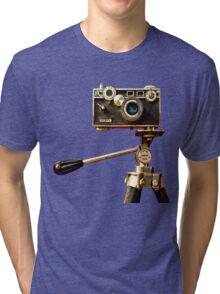 Vintage Argus Camera & Tripod Tri-blend T-Shirt