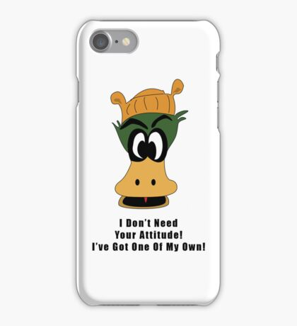 Crazy Duck Attitude iPhone Case/Skin