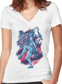 Kali Women's Fitted V-Neck T-Shirt