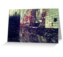 Portland Brick Wall - Greeting Card Greeting Card
