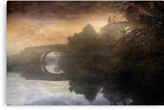 Bridge in the mist  by Irene  Burdell