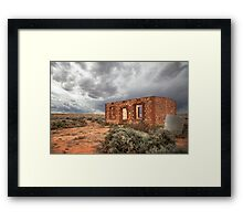 Old ruined house at Silverton, Australia Framed Print